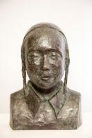 'Ezra', brons, h. 25 cm.